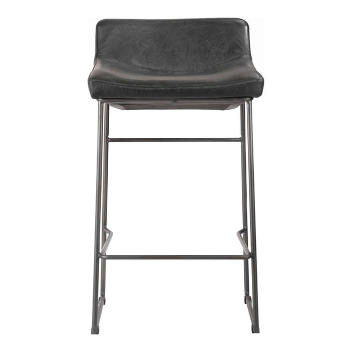 Moe's Home Collection Starlet Black Counter Stool-Moe's Home Collection-Happy Home Bars