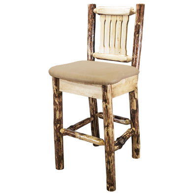 Montana Woodworks Glacier Country Barstool w/ Upholstered Seat-Montana Woodworks-Happy Home Bars