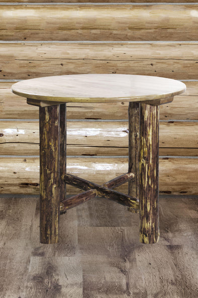 Montana Woodworks Glacier Country Bistro Table Stained and Lacquer-Montana Woodworks-Happy Home Bars