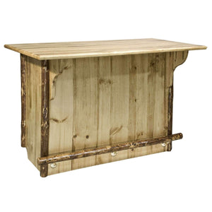 "Montana Woodworks Glacier Country Deluxe 60"" Home Bar with Foot Rail-Montana Woodworks-Happy Home Bars"