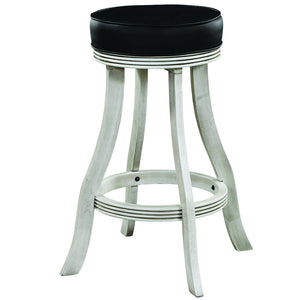 "Ram Game Room 30"" Antique White Backless Bar Stool-Ram Game Room-Happy Home Bars"