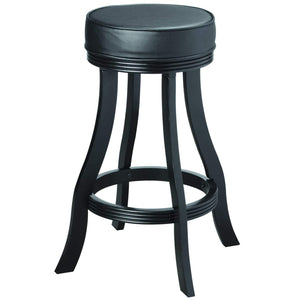 "Ram Game Room 30"" Black Backless Bar Stool-Ram Game Room-Happy Home Bars"