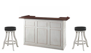 "Ram Game Room 84"" Antique White Home Bar Set-Ram Game Room-Happy Home Bars"