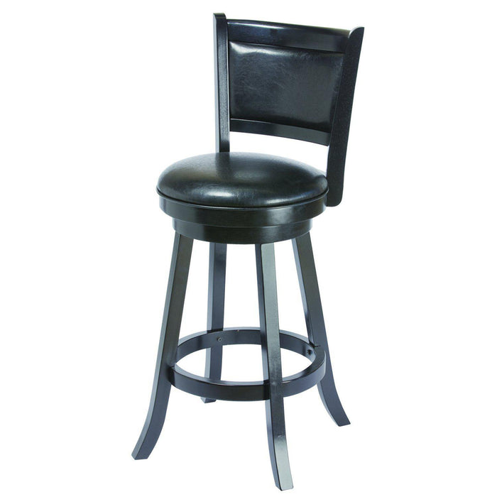 Ram Game Room Backed Swivel Bar Stool | Black-Ram Game Room-Happy Home Bars