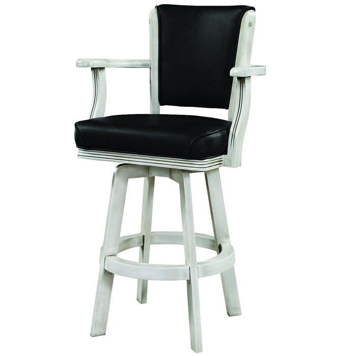 Ram Gameroom Antique White Swivel Bar Stool with Arms-Ram Game Room-Happy Home Bars