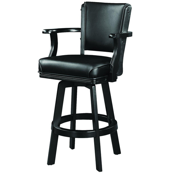 Ram Gameroom Black Swivel Bar Stool with Arms-Ram Game Room-Happy Home Bars