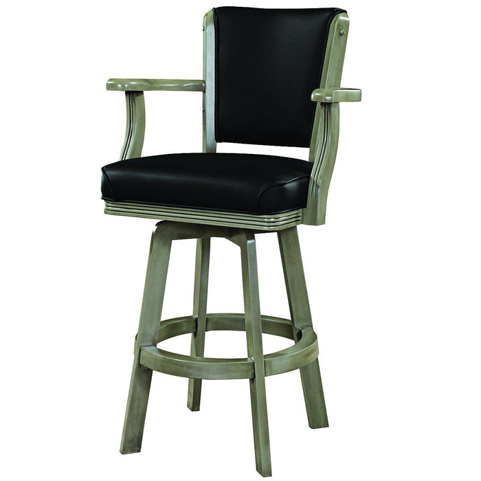 Ram Gameroom Swivel Bar Stool with Arms-Slate-Ram Game Room-Happy Home Bars