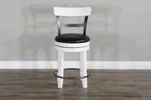 "Sunny Designs Carriage House 24"" Bar Stool (Set of 2)-Sunny Designs-Happy Home Bars"