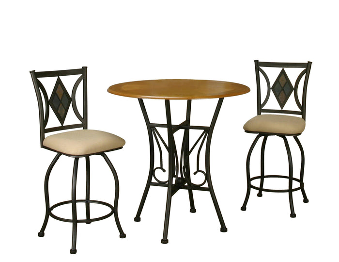 Sunset Trading 3 Piece Dart Pub Table Set-Sunset Trading-Happy Home Bars