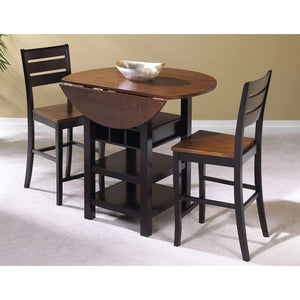 Sunset Trading 3 Piece Quincy Drop Leaf Pub Table Set-Sunset Trading-Happy Home Bars