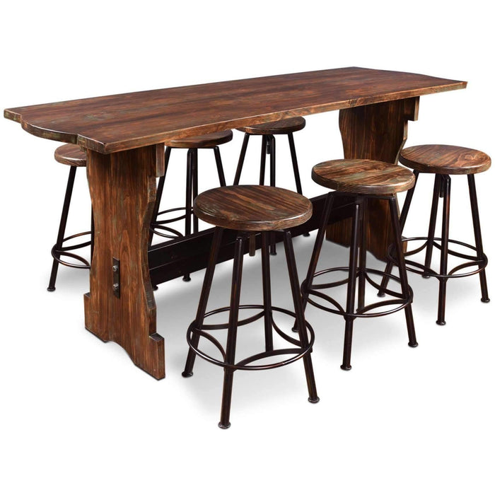 Sunset Trading 7 Piece Cabo Pub Table Set-Sunset Trading-Happy Home Bars