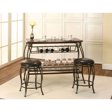 Sunset Trading Chloe Bar Table with Built-In Wine Rack and Two Bar Stools-Sunset Trading-Happy Home Bars
