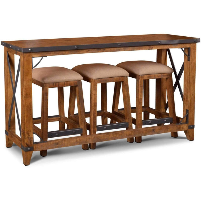 Sunset Trading Rustic City 4 Piece Bar Table Set-Sunset Trading-Happy Home Bars