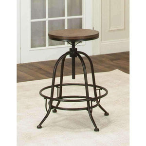 Sunset Trading Rustic Elm Industrial Deluxe Swivel Barstool | Set of 2-Sunset Trading-Happy Home Bars