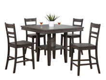 Sunset Trading Shades of Gray 5 Piece Square Counter Height Pub Table Set-Sunset Trading-Happy Home Bars