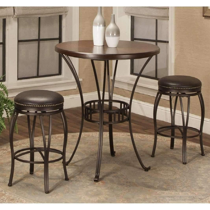 Sunset Trading Victoria Round Pub Table Set-Sunset Trading-Happy Home Bars