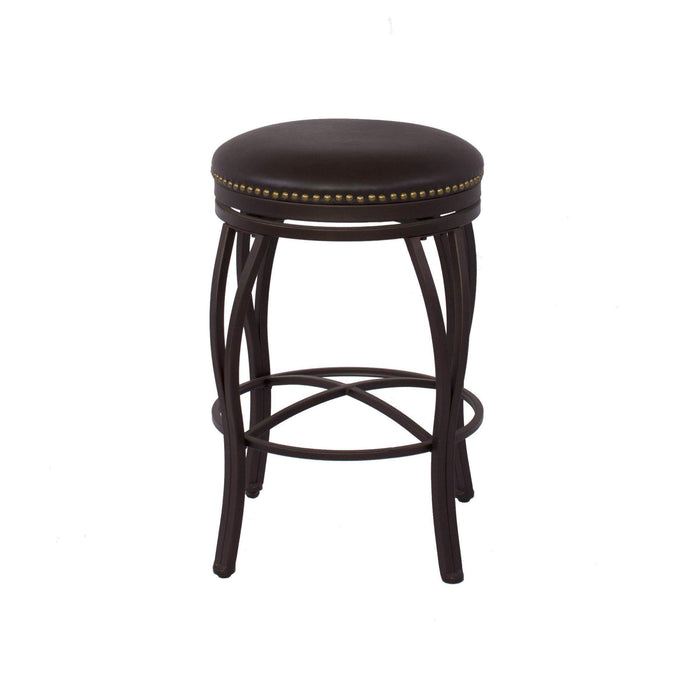 Sunset Trading Victoria Swivel Backless Bar Stool-Sunset Trading-Happy Home Bars