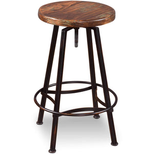 Sunset Trading Walnut Cabo Adjustable Bar Stool-Sunset Trading-Happy Home Bars
