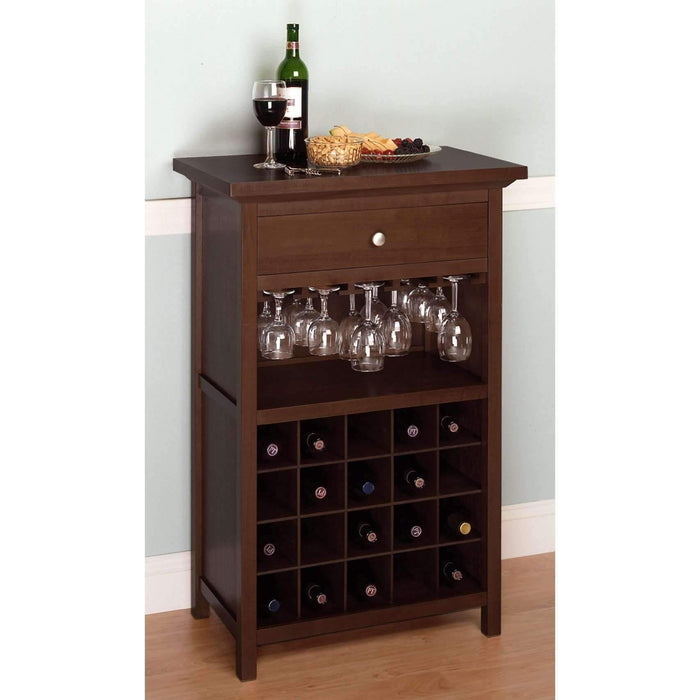 Winsome Chablis Wine Cabinet- Antique Walnut-Winsome-Happy Home Bars
