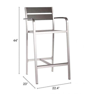 Zuo Modern Aluminum Megapolis Bar Stool (Set of 2)-Zuo Modern-Happy Home Bars