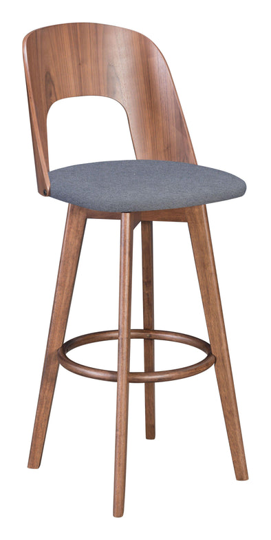 Zuo Modern Anton Bar Stool Walnut (Set of 2)-Zuo Modern-Happy Home Bars