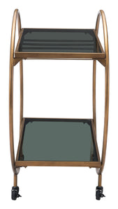 Zuo Modern Arc Bar Cart, Gold & Black-Zuo Modern-Happy Home Bars