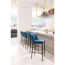 Zuo Modern Blue Tolivere Bar Stool (Set of 2)-Zuo Modern-Happy Home Bars