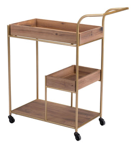 Zuo Modern Brown Bar Cart & Tray-Zuo Modern-Happy Home Bars