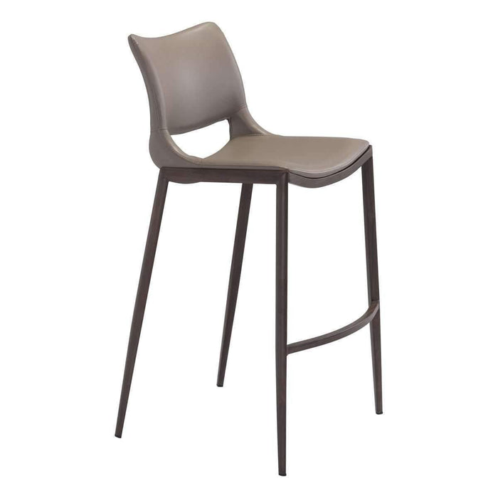 Zuo Modern Gray Ace Armless Bar Stool-Zuo Modern-Happy Home Bars
