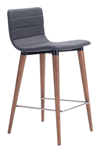 Zuo Modern Gray Jericho Counter Stool (Set of 2)-Zuo Modern-Happy Home Bars