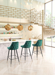 Zuo Modern Green Piccolo Bar Stool-Zuo Modern-Happy Home Bars