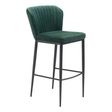 Zuo Modern Green Tolivere Bar Stool (Set of 2)-Zuo Modern-Happy Home Bars