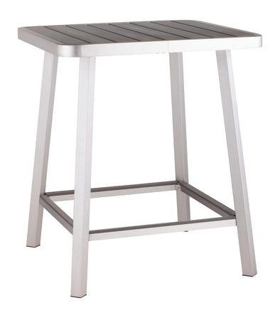 Zuo Modern Megapolis Bar Table | Brushed Aluminum-Zuo Modern-Happy Home Bars