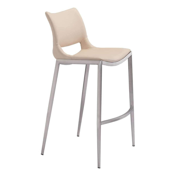 Zuo Modern Pink Ace Armless Bar Stool-Zuo Modern-Happy Home Bars