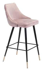 Zuo Modern Pink Piccolo Bar Stool-Zuo Modern-Happy Home Bars