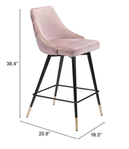 Zuo Modern Pink Piccolo Counter Stool-Zuo Modern-Happy Home Bars