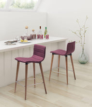 Zuo Modern Purple Jericho Counter Stool (Set of 2)-Zuo Modern-Happy Home Bars