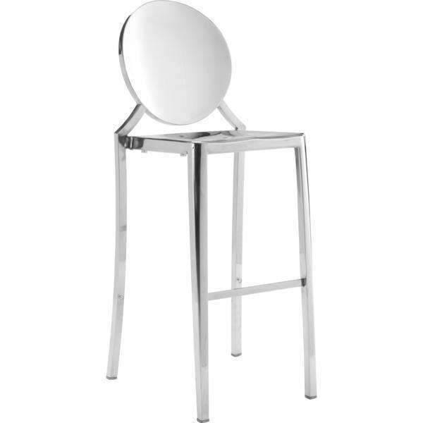 Zuo Modern Stainless Steel Eclipse Bar Stool (Set of 2)-Zuo Modern-Happy Home Bars