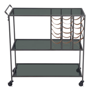 Zuo Modern Streamline Bar Cart-Zuo Modern-Happy Home Bars