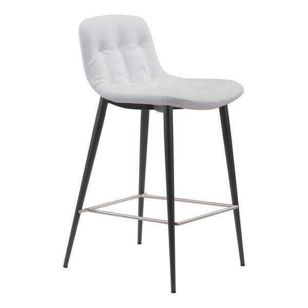 Zuo Modern White Tangiers Counter Stool (Set of 2)-Zuo Modern-Happy Home Bars