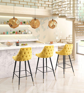Zuo Modern Yellow Piccolo Bar Stool-Zuo Modern-Happy Home Bars
