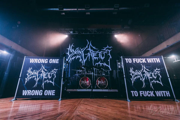 Dying Fetus Stage Scrims and Backdrop