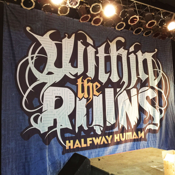 Within The Ruins Band Backdrop