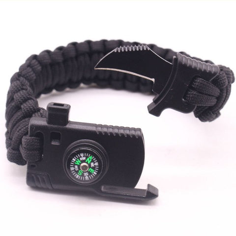 FREE Paracord Survival Bracelet with built in Knife and Whistle - EnhancedUniverse