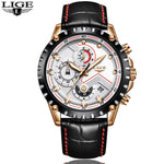 Men's Luxury Leather Waterproof Quartz Watch - EnhancedUniverse