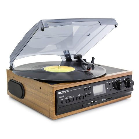 USB Vinyl Record Player W/ AM/FM Radio - EnhancedUniverse