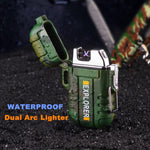 Waterproof Rechargeable Electronic Dual Arc Lighter - EnhancedUniverse