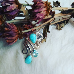 LARIMAR RINGS and PENDENT