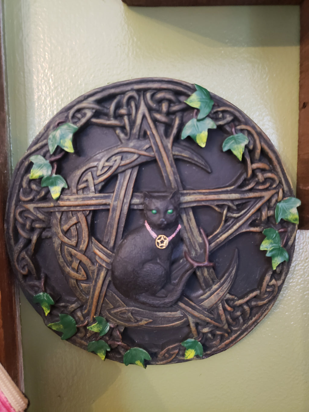 Black Cat with Pentacle Plaque