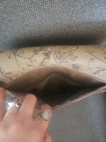 Vintage Floral Recycled Military Tent and Canvas Purse
